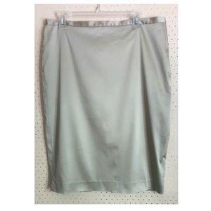 Sutton Studio Beige Pencil Skirt